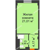 Студия 29,24 м², Апарт-Отель Гордеевка - планировка