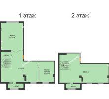 1 комнатная квартира 252,5 м², ЖК ROLE CLEF - планировка