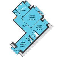 3 комнатная квартира 91 м², Жилой дом: г. Дзержинск, ул. Кирова, д.12 - планировка