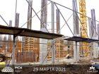 Ход строительства дома Литер 1 в ЖК Грин Парк - фото 4, Март 2021
