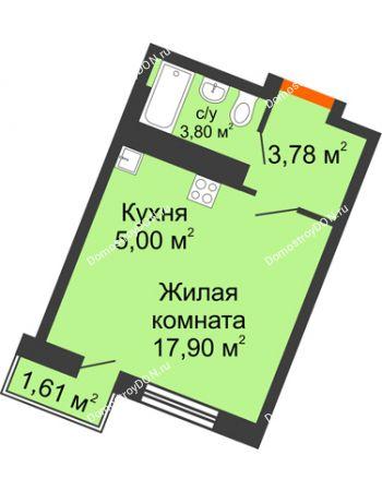 Студия 25,76 м² в ЖК Мечников, дом ул. Мечникова, 37