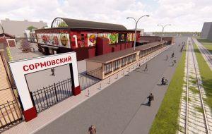 Комплексное благоустройство территории Сормовского рынка в Нижнем Новгороде