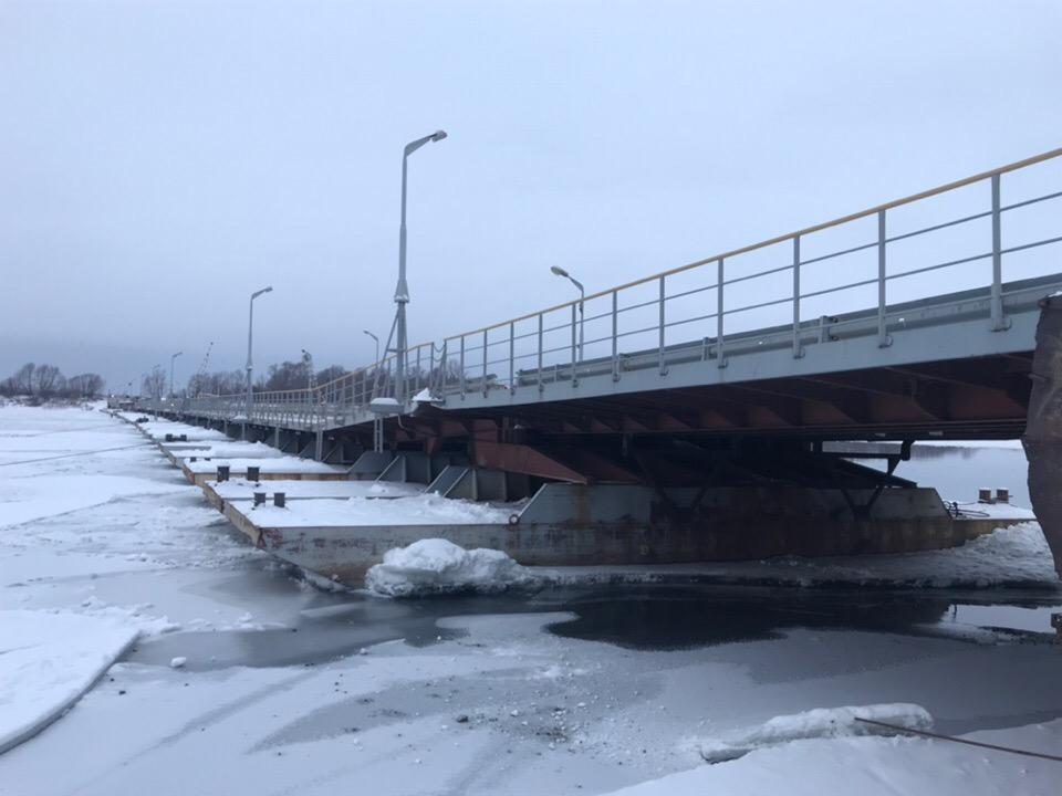 Наплавной мост через Оку в Павлово установят, когда придут морозы