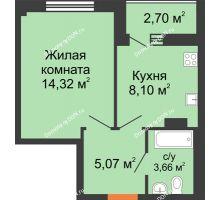 1 комнатная квартира 33,1 м², ЖК Дом на 14-й Линии - планировка