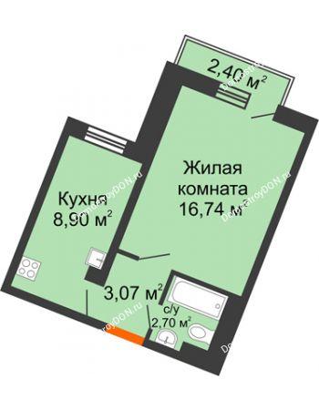 1 комнатная квартира 31,76 м² в ЖК Мечников, дом ул. Мечникова, 37