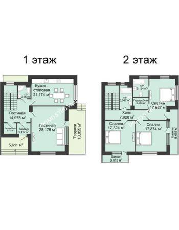 4 комнатная квартира 175,5 м² в КП DolinaGreen (Долина Грин), дом Типа дуплекс (175,5 м2)