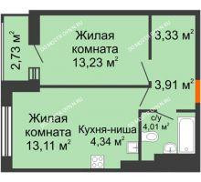 1 комнатная квартира 44,66 м² - ЖК Олимпийский