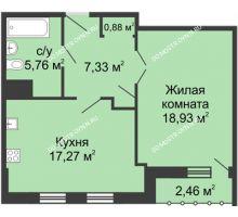 1 комнатная квартира 51,4 м² - ЖК Сергиевская Слобода