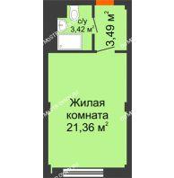 Апартаменты-студия 28,27 м², Апарт-Отель Гордеевка - планировка
