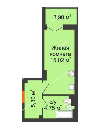 Студия 27,02 м² в ЖК Аврора, дом № 3