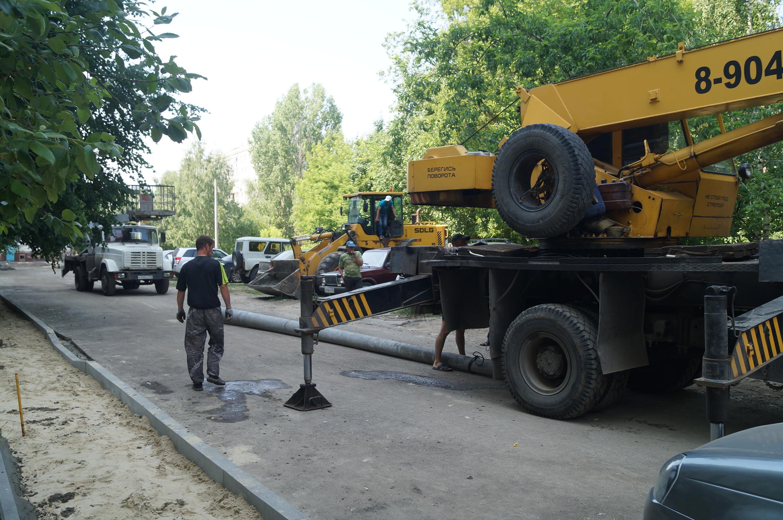 Благоустройство улицы Тропинина началось в Приокском районе Нижнего Новгорода