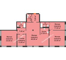 5 комнатная квартира 192 м², ЖК Богатяновский - планировка