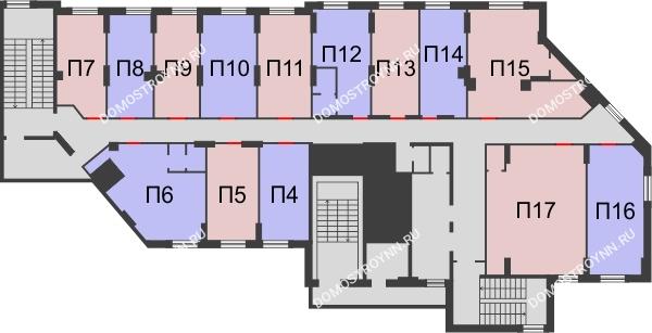 Жилой дом: ул. Сазанова, д. 15 - планировка 2 этажа