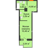 Студия 25,97 м² в ЖК Город у реки, дом Литер 8 - планировка