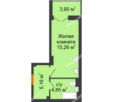 Студия 27,22 м² в ЖК Аврора, дом № 3 - планировка