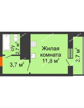 Студия 21,9 м² - ЖК Космолет