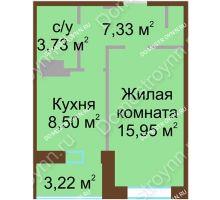 1 комнатная квартира 37,14 м² - Жилой дом Каскад на Даргомыжского