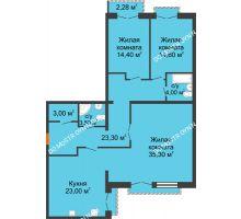 3 комнатная квартира 122,24 м², Жилой дом: г. Дзержинск, ул. Кирова, д.12 - планировка