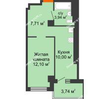 1 комнатная квартира 33,75 м² - ЖК Уютный дом на Мечникова