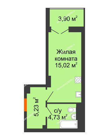 Студия 26,93 м² в ЖК Аврора, дом № 3