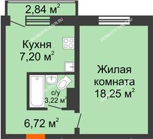 1 комнатная квартира 35,39 м² в ЖК Корабли, дом № 9-1