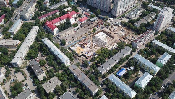 """Строительство ЖК """"Зодиак"""" в Самаре сняли с высоты птичьего полета"""